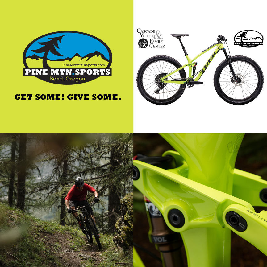 755ef1d8d08 Pine Mountain Sports is raising money for Cascade Youth & Family Center by  raffling off a 2019 Trek Fuel 9.8 mountain bike with the brand new Shimano  XT ...